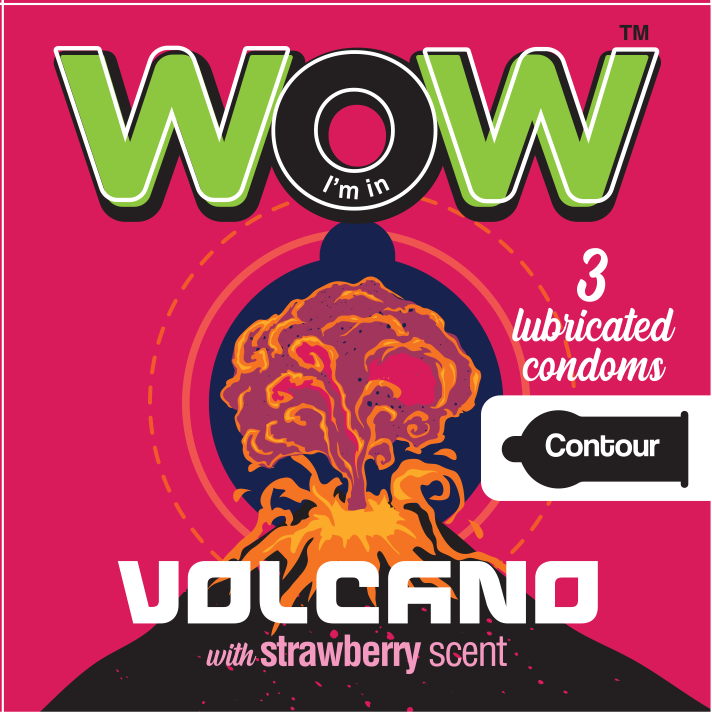Wow condoms practice safe sex Volcano contour condom