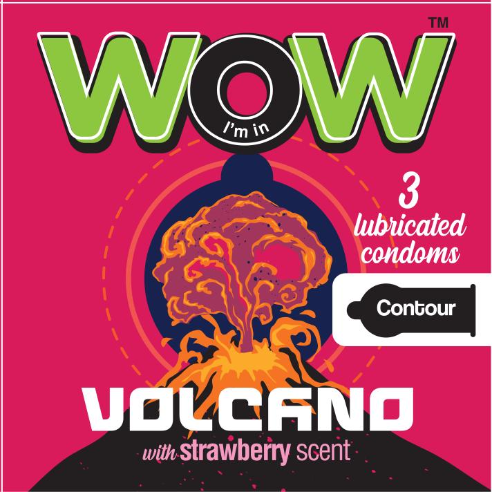 Wow condoms practice safe sex Volcano contour condom
