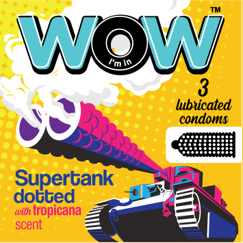 Wow condoms practice safe sex Suppertank dotted condom
